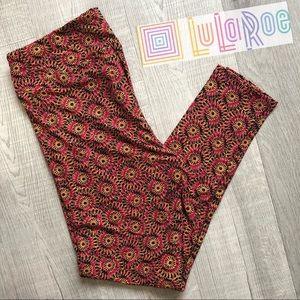 LuLaRoe SOFT Women's Leg Red Black Floral Print